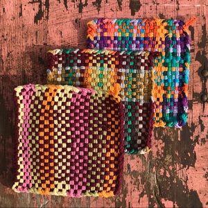3 loop loom potholder trivets